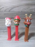 Pez Dispensers Rudolph Reindeer Christmas Elf and Santa Clause Christmas Lot