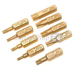 """WERA Bit 1/4"""" TORX TX mit Haltefunktion T8 T9 T10 T15 T20 T25 T27 T30 T40 HF"""