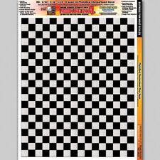 Checkerboard Floor Diorama 1/24 1/32 1/43 1/48 1/64 1/87 Layout Decals