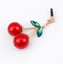 Bijoux de téléphone portable Cerise rouge pour Iphone Samsung Neuf de France
