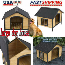 Dog House for Large Dogs Big Pet Wood Doghouse Kennel Indoor Outdoor Waterproof