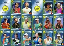 US Open 2020 Tennis Trading Cards Thiem Zverev Osaka Azarenka
