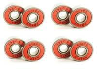 608 2RS ABEC 9 SKATEBOARD PUSH SCOOTER ROLLER INLINE SKATE BEARINGS RED