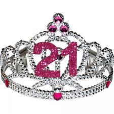 21st Birthday Tiara Princess Silver Fun Adult Womens 21 Year Old Party