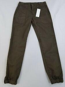 New VINCE women pants DV3022332 DKWLLW military green USA made sz 25 $295