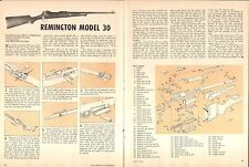 1976 2 Page Print Article of Remington Model 30 Rifle Parts List & Disassembly
