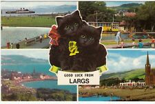 Postcard - Good Luck from Largs.      (Ref A25)