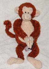 "Gund Kids Plush Yoga Monkey 20016 Stuffed Animal Toy 15"" No Sound Bendable Tail"