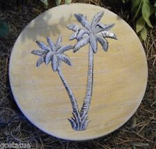 Palm tree stepping stone concrete plaster mould mold