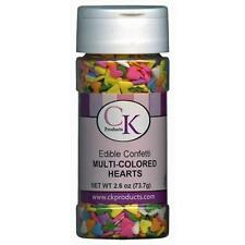 MULTI-COLOURED HEARTS Edible Confetti Sprinkles-CK Products - cake/cupcake/pops