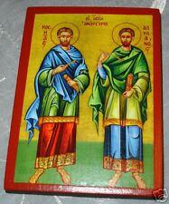 Wundertäter Kosmas Damianos IKONE orthodox Icon Cosmas Damian icone Côme Damien
