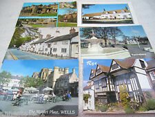 6 DIFFERENT POSTALLY USED POSTCARDS FROM GB 'VILLAGES'