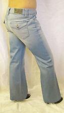 New Level 99 Anthropologie Low Rise  Wide Leg Denim Jeans Sz 27 4 Light Wash