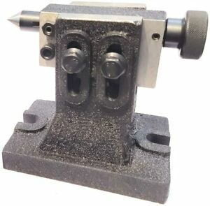 Adjustable Tailstock for HV8 Rotary Table- Hardened & Ground Point Machine Tools