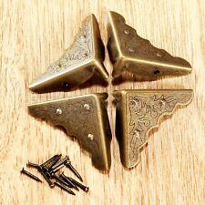 Antik Messing Eckschutz dekorativen Schmuck Geschenk Guard Jewelrybox mit Nägeln