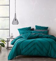 Bianca Haven Quilt Cover Set Teal