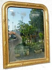 Antica specchiera foglia oro 800 Luigi Filippo pronta 80x62 cm cornice dorata 15