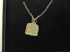"""Menu Board TG421 Pewter On 16"""" Silver Plated Curb Necklace"""
