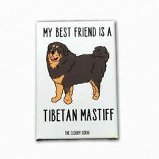 Tibetan Mastiff Dog Magnet Best Friend Cartoon Pet Art Handmade Gifts and Decor