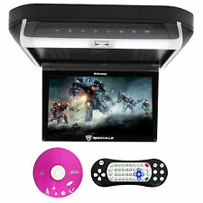 "Rockville RVD10HD-BK 10.1"" Flip Down Monitor DVD Player, HDMI, USB, Games, LED"