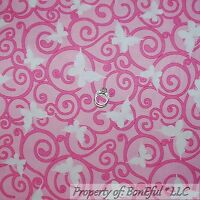 BREAST CANCER LADIES LORALIE PINKS COTTON FABRIC FQ