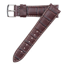 20mm Hadley-Roma MS834 Mens Brown Alligator-Grain Leather Watch Band Strap