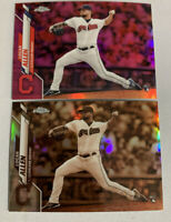 2020 Topps Chrome - Refractor - Logan Allen - Cleveland Indians Rookie Pink Lot