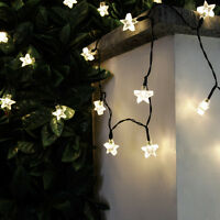 SOLAR POWERED OUTDOOR GARDEN CAMPING WEDDING PARTY FAIRY STRING LED STAR LIGHTS