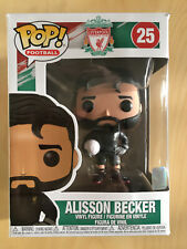 RARE GENUINE BOXED FUNKO POP VINYL LIVERPOOL FOOTBALL CLUB LFC ALISSON BECKER 25