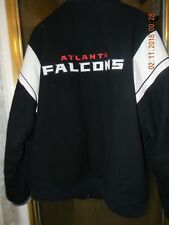 Atlanta Falcons NFL Jacket /Wool Leather Sleeve Embroidered Front and Back Logo