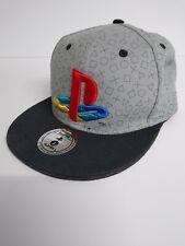 Official SONY Playstation 1 Logo Snapback Cap Hat - 100% Cotton, Grey Retro PS1