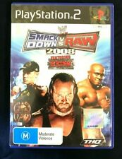 WWE Smackdown vs RAW 2008 Featuring ECW  PAL SonyPS2 Game DVD Free postage