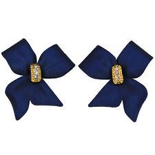 RUCINNI Blue Ribbon Earrings
