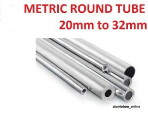ALUMINIUM ROUND TUBE METRIC 20mm 22mm 25mm 28mm 30mm 32mm
