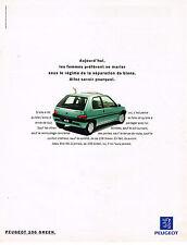 PUBLICITE ADVERTISING 094  1994   PEUGEOT 106 GREEN