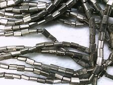 Vtg 500 RUSTIC CHROME SILVER COLOR PILLOW  SPACER GLASS BEADS 3.5 mm #051512r