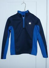 Champion Authentic Pullover Zippered Blue & Black Jacket Size 7/8