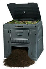 120 Gallon Square Resin E Composter Compost Bin Garden Leaf Waste Recycling