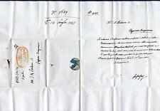 ITALIA - LOMBARDO VENETO - 1827 - Prefilatelica da Brescia a Caprino Bergamasco
