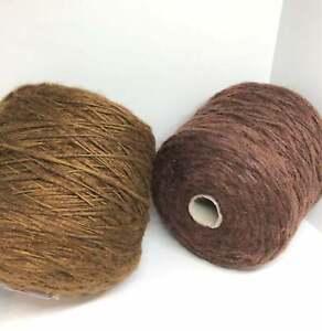 Alpaca Wool Blend Italian Yarn on Cone per 0.44lb / 200g Knitting Crochet Craft