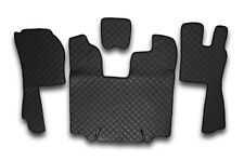 ECO LEATHER SET BLACK FLOOR MATS+ENGINE COVER SCANIA R AUTOMATIC RHD 2009-2013