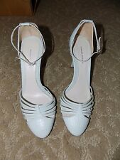 Banana Republic Leather Ankle Strap Stiletto Pumps Made in Italy Size 8.5 EUC