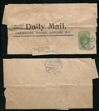 GB KE7 NEWSPAPER WRAPPER to DENMARK 1905 VICE CONSUL...DAILY MAIL