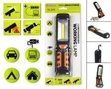 Torcia led da lavoro con calamita gancio orientabile portatile lampada emergenza