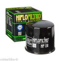 Filtre à huile Hiflofiltro HF138 SUZUKI   VL VX VS VZ 800 /  DL 1000 V-strom
