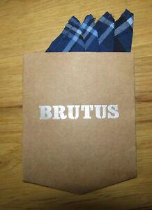 Brutus Trimfit Pocket Square in Blue/Black Mod, Skin, Soul