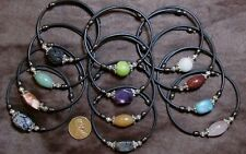 5 Gemstone Bracelets- Single Stone Design- Random Wholesale Lot