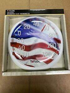 """Taylor Indoor/Outdoor Decorative 13.25"""" Thermometer Model 6729"""