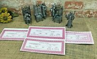 Michael A. Ricker 4 Piece Pewter Knights Of The Round Table with certifications