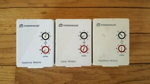 Lot of X-10 Powerhouse Modules: 1x Lamp LM465 & 2x Appliance AM486 (2-prong)
